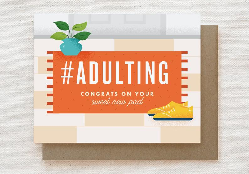 #Adulting - Congrats New Home Card