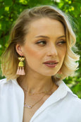 Amelia Beige Tassel Earrings