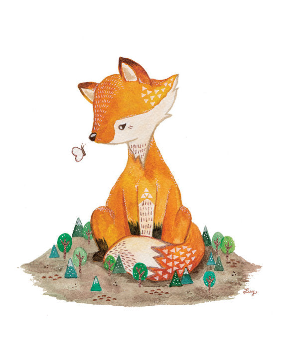 Farrah the Fox Art Print
