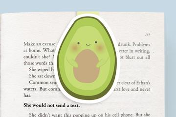 Avocado Magnetic Bookmark