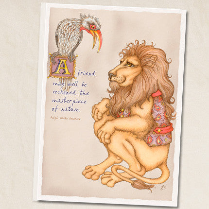 Leah Schell - Friendship Lion Card