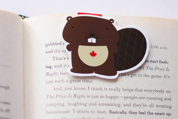 Canadian Beaver Magnetic Bookmark