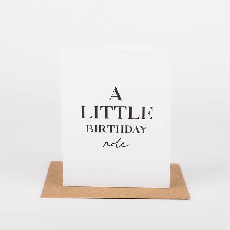 A Little Birthday Note Card