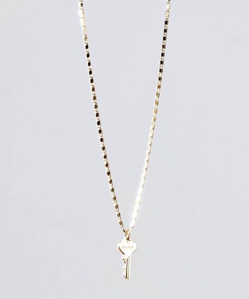 Gold Petite Key Necklace - Giving Keys