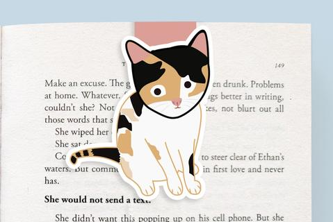 Calico Cute Cat Magnetic Bookmark