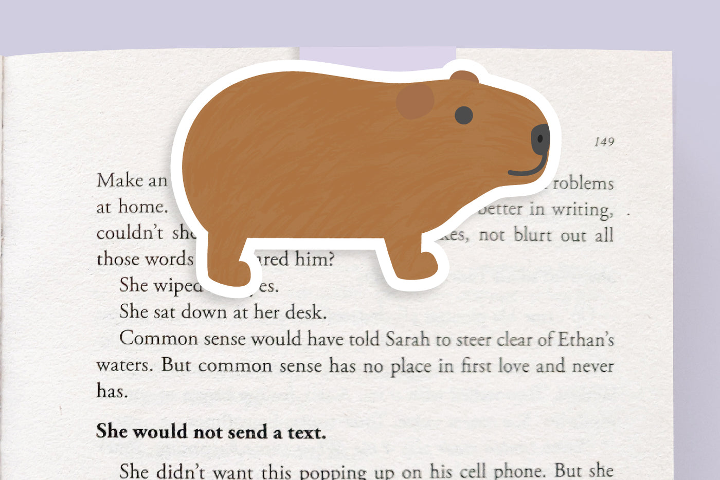 Capybara Magnetic Bookmark