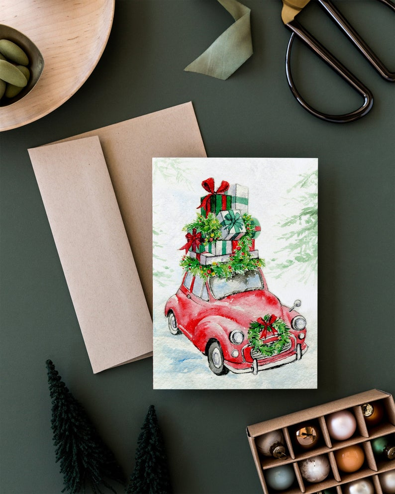 Holiday Car Card