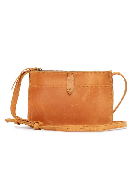 ABLE Chaltu Top Zip Crossbody Cognac