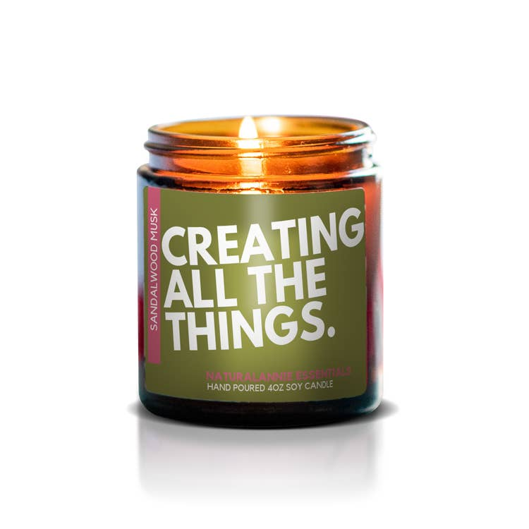 Creating All the Things Soy Candle