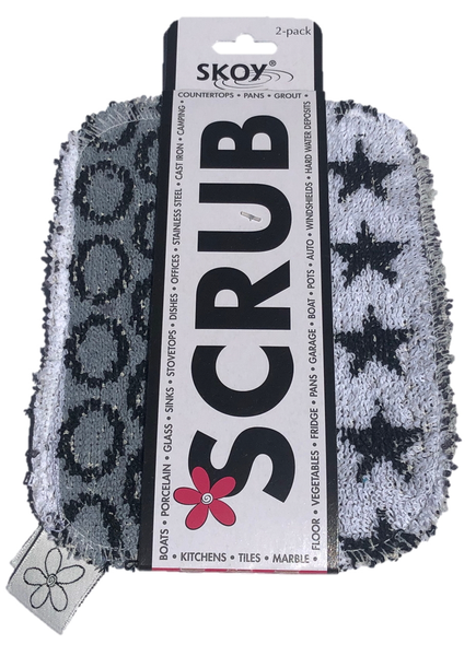 Skoy Scrub Pads - Set of 2 - Monochromatic