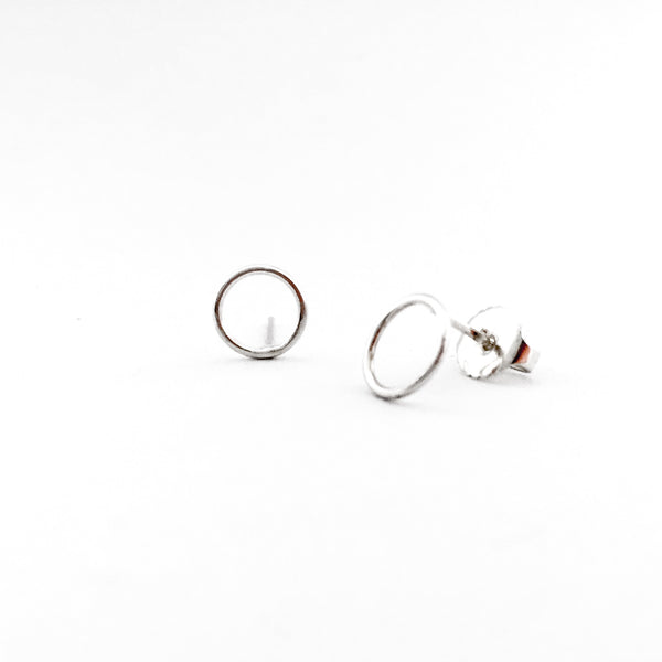 Simple Shapes Stud Earrings - Circle