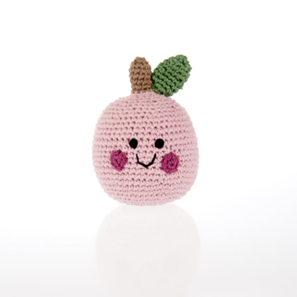 Friendly Apple Rattle - Organic