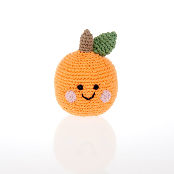 Friendly Orange Rattle - Organic