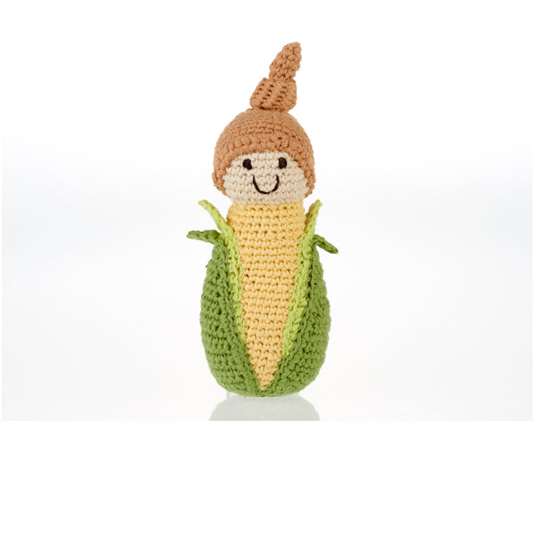 Friendly Vegetable Rattle - Baby Sweet Corn