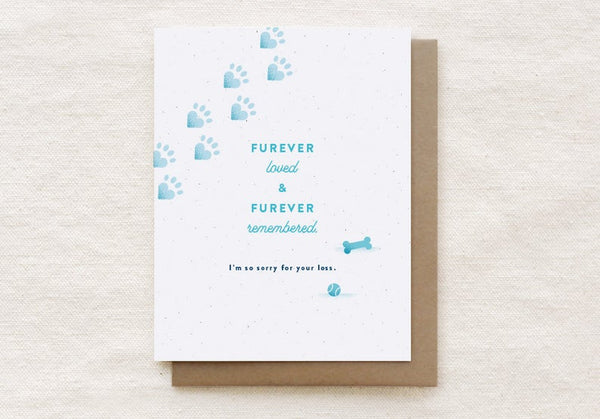 Furever Loved - Pet Sympathy Card