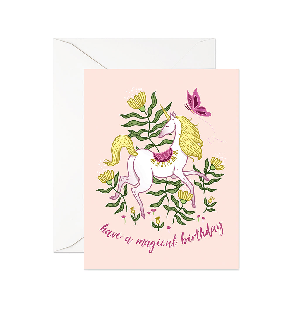 Garden Unicorn Birthday Card