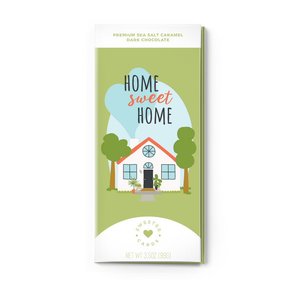 HOME SWEET HOME Sea Salt Caramel Dark Chocolate Card