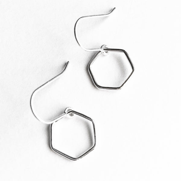 Simple Shapes Earrings - Hexagon
