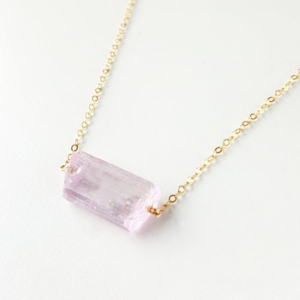 Love Necklace - Pink Kunzite