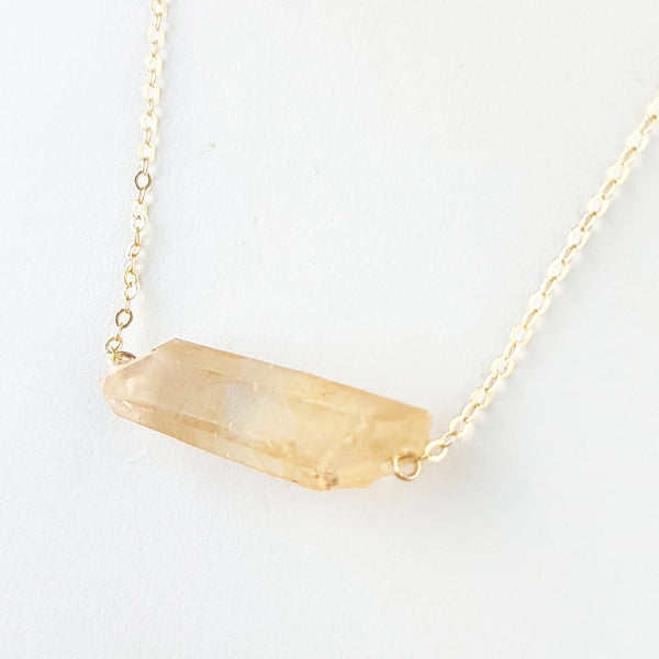 Inspire Light Necklace - Tangerine Quartz