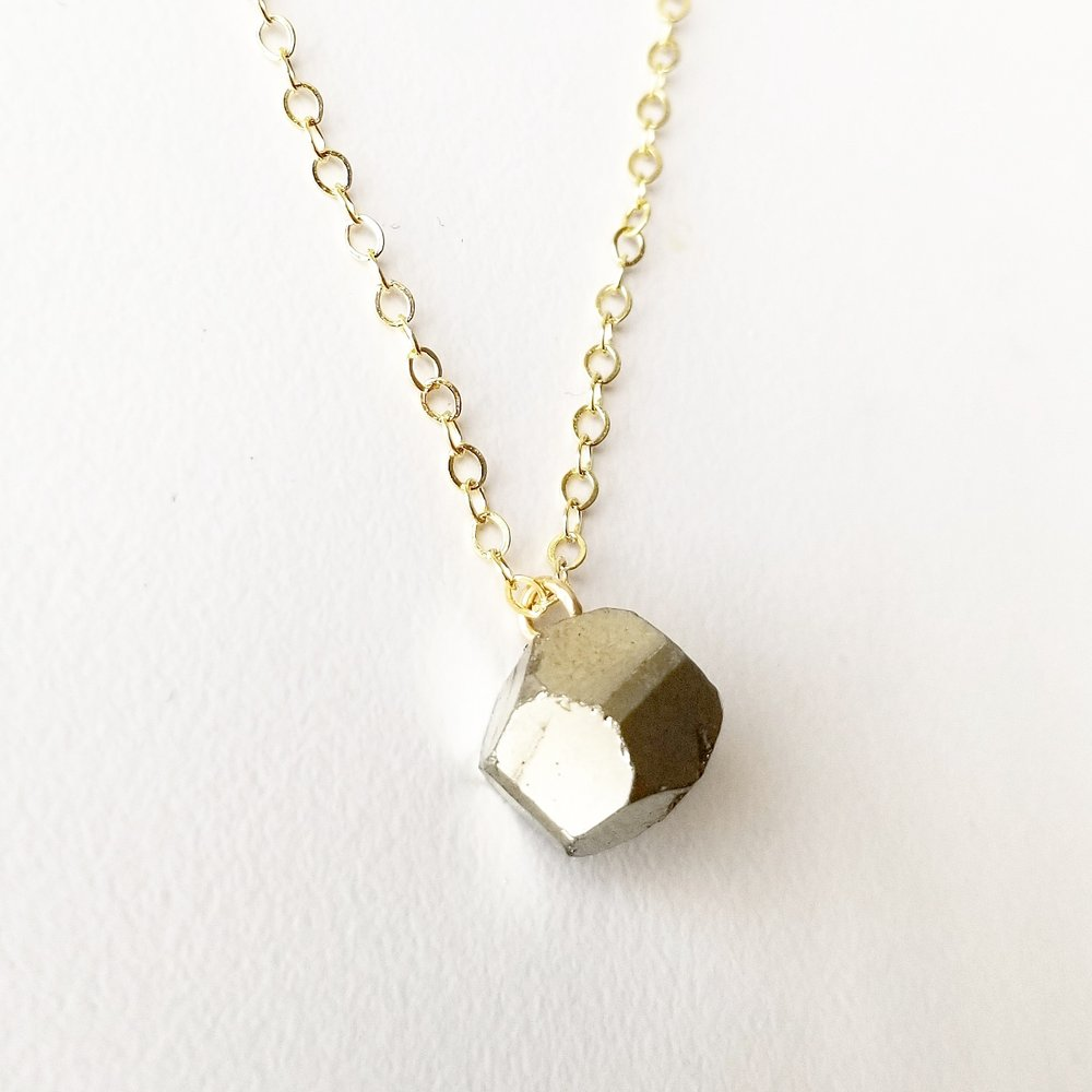 Perseverance Light Necklace - Pyrite