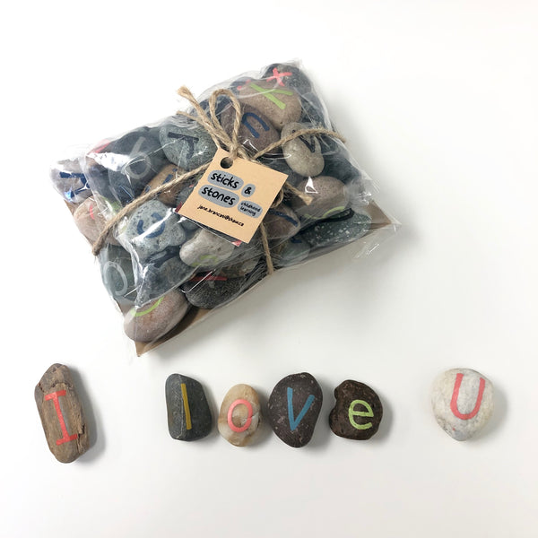 Hand Painted Stone Letters Set