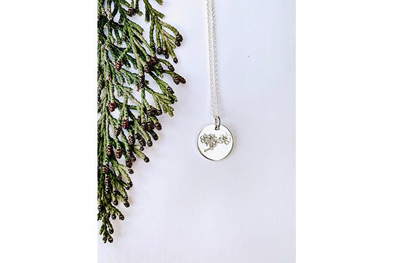Stamped Dogwood Necklace