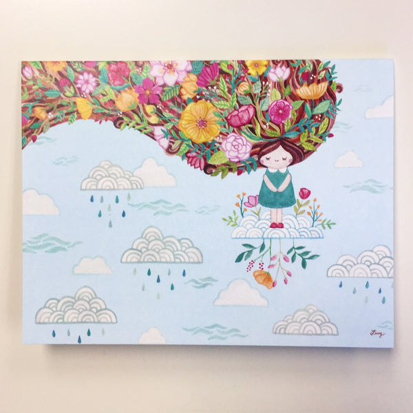 Nursery Wall Art & Card - Dreamer Girl Mural