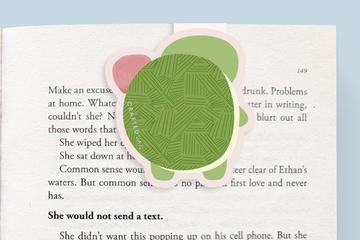 Turtle with Ice Cream Magnetic Bookmark