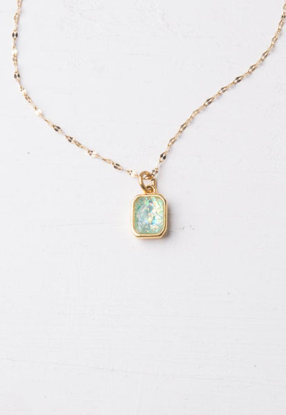 Lila Sky Blue & Gold Necklace