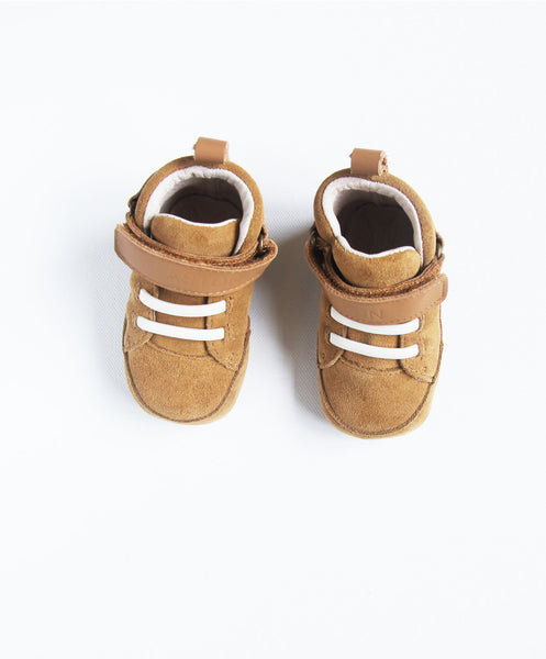 The Lonsdale Baby Shoe - Tan