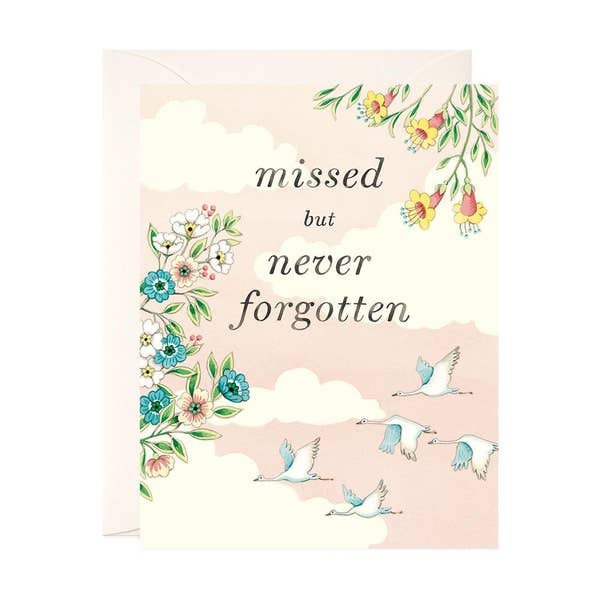 Missed But Never Forgotten Sympathy Card