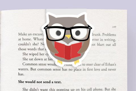 Owl Reading Magnetic Bookmark