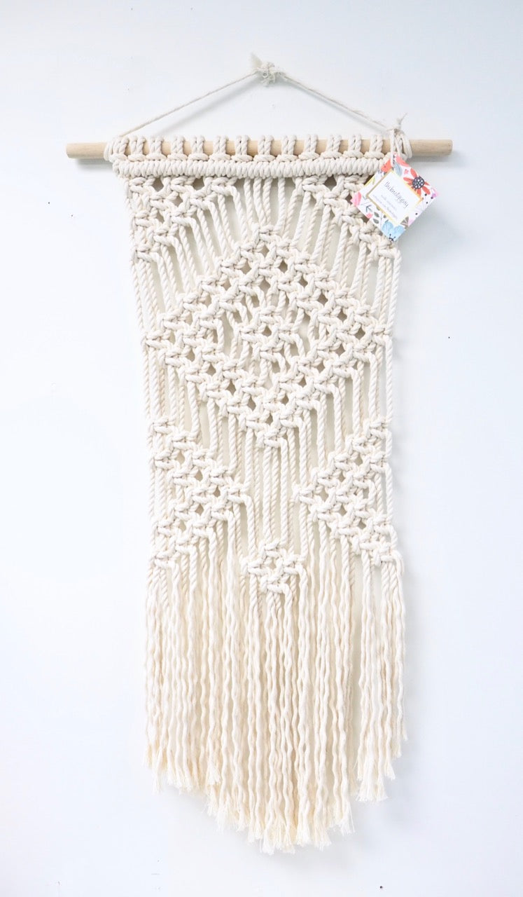 Large Diamond 'Leisl' Macrame Wall Hanging