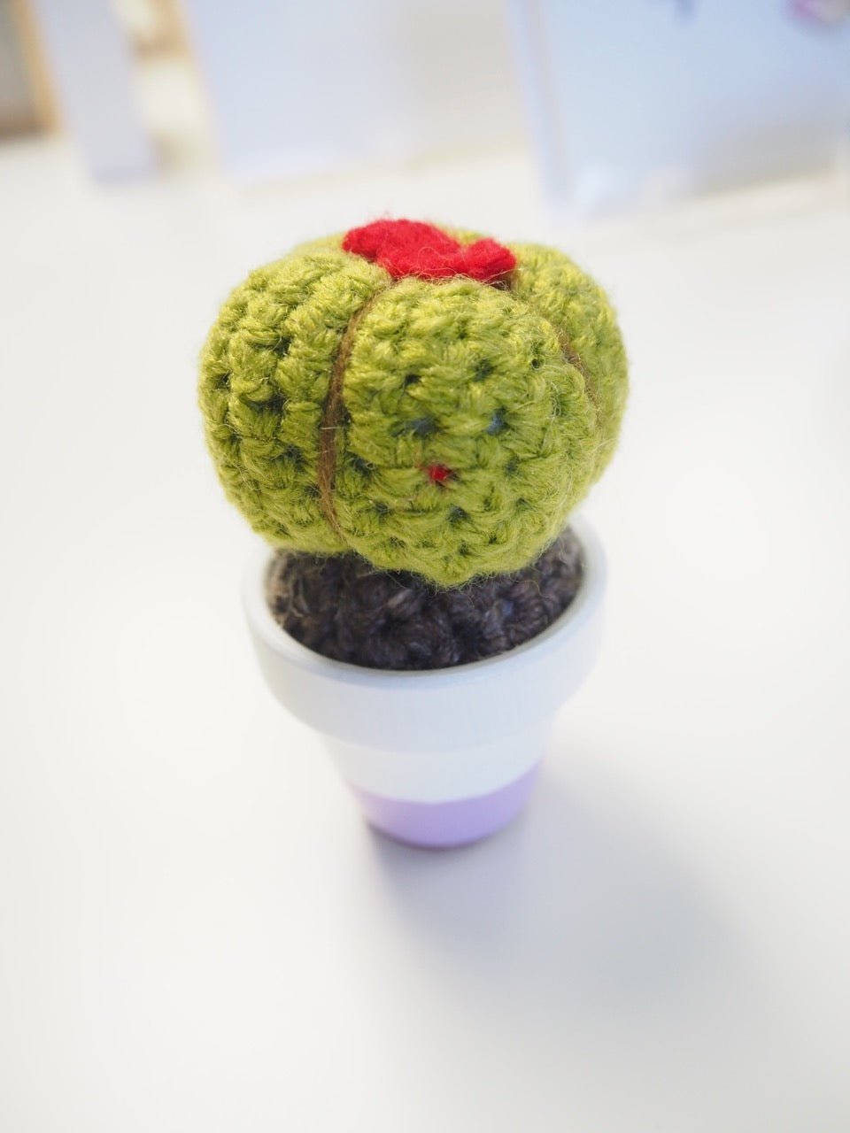 Crochet Potted Cactus - Barrel
