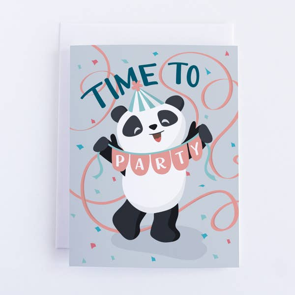 Time To Party Panda Card