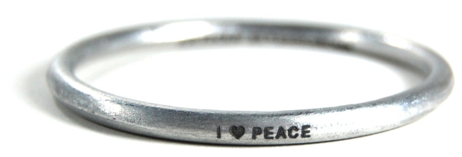 I Heart Peace Bangle
