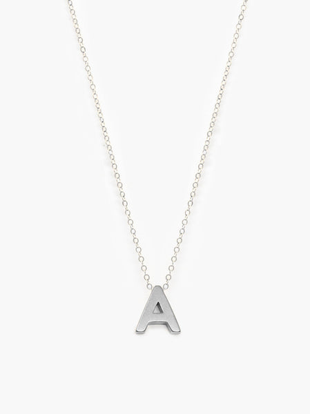 Letter Necklace - Choose Your Letter - Silver