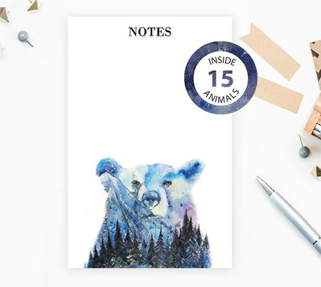Animal Notepad