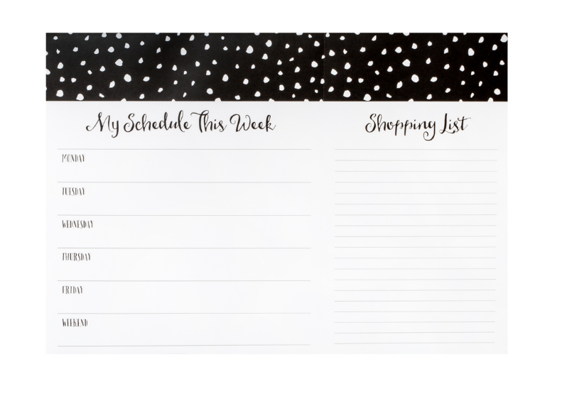 Magnetic Weekly Schedule & Shopping List