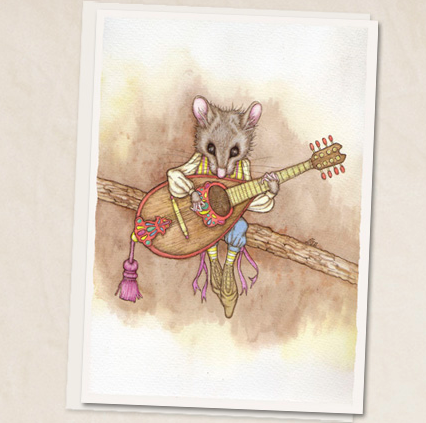 Leah Schell - Mandolin Mouse Card