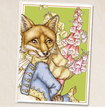 Leah Schell - Monsieur Renard Moderne Fox Greeting Card