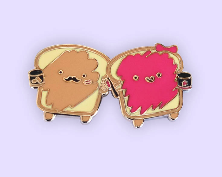 Peanut Butter and Jam Enamel Pin
