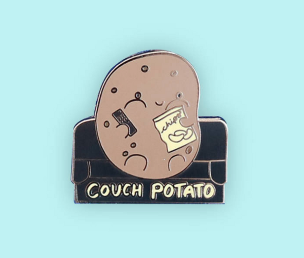 Couch Potato Enamel Pin