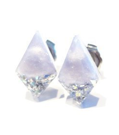 Glitter Diamond Resin Earrings