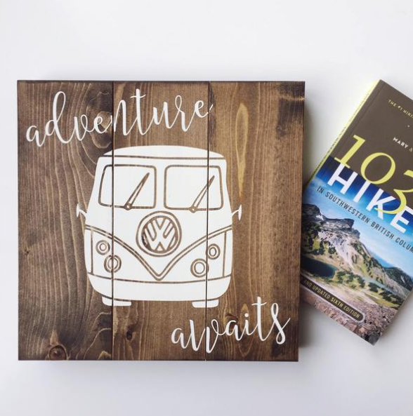Adventure Awaits Wood Sign