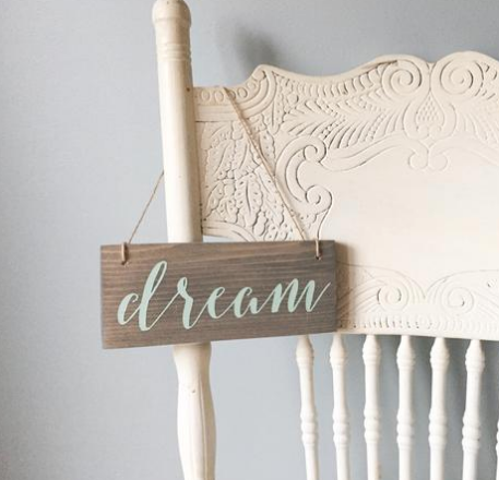 Dream Wood Sign