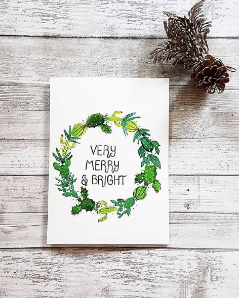 Very Merry and Bright Greeting Card