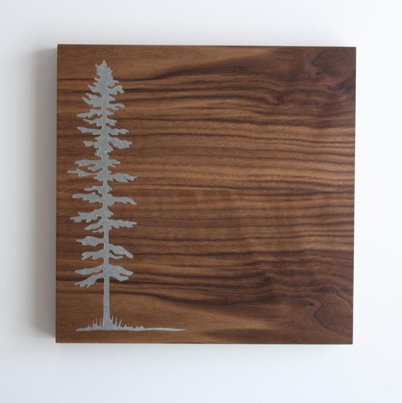 12x12 Wood Veneer Magnet Board - Spruce Tree