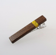 Wooden Tie Clips with Acrylic Detail
